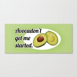 Avocadon't (Green) Canvas Print
