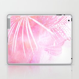 Abstract Pink Palm Tree Leaves Design Laptop & iPad Skin