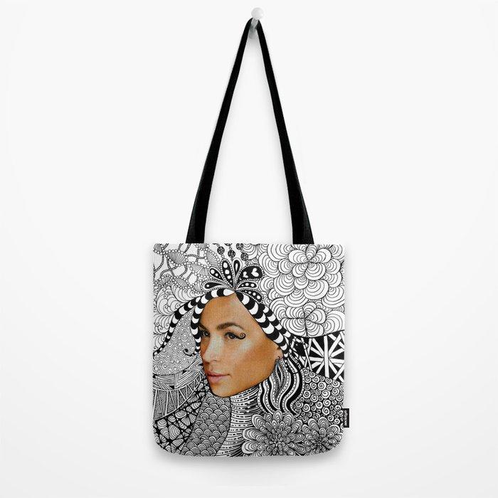 Tangled Face Tote Bag