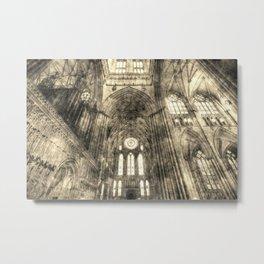 York Minster Vintage Metal Print