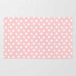 Darling Dots Blush Pink Rug