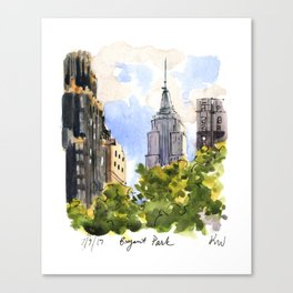 Empire State Building from Bryant Park Canvas Print