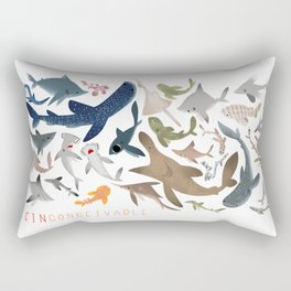 "FINconceivable Still ""Sharks"" Rectangular Pillow"