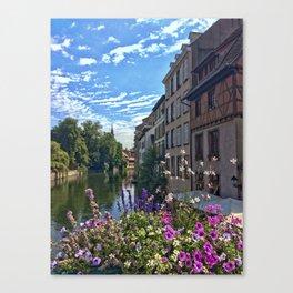 Canal de la Sarre Strasbourg Canvas Print