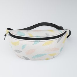 Pastel Feathers Textured Fanny Pack