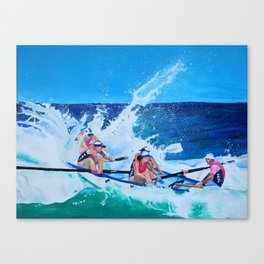 Surf Boat Rowers Canvas Print