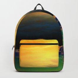 Sonnenuntergang über der Insel Backpack
