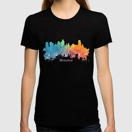 Skyline Minneapolis colored T-shirt
