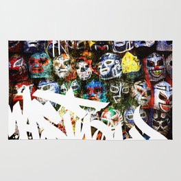 Graffiti Luchadores Rug