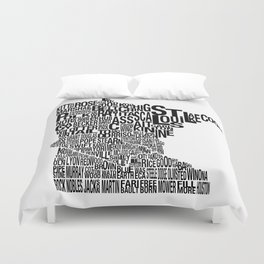 Minnesota Counties Map Duvet Cover