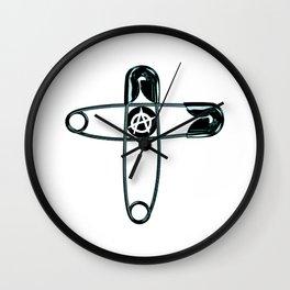PUNK Safety pins Wall Clock