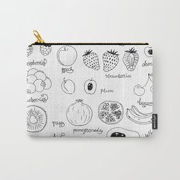 Hand  drawn collection of various fruits Carry-All Pouch