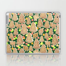 Gingerbread Moose, Trees and Gumdrops Laptop & iPad Skin