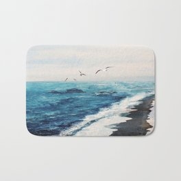 Watercolor Coast Bath Mat