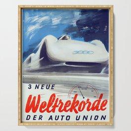 Vintage Der Auto Union Poster Serving Tray