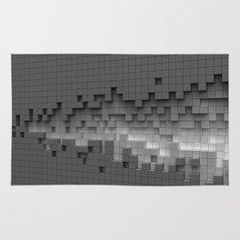 Grey cubes mosaic - torn wall Rug