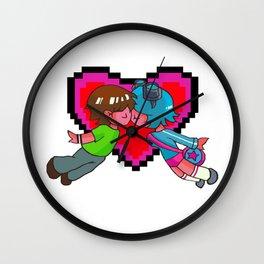 Scott Pilgrim + Ramona Flowers 8-bit Heart Wall Clock