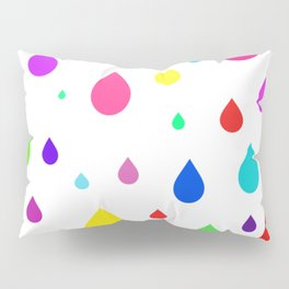 colorful raindrops Pillow Sham