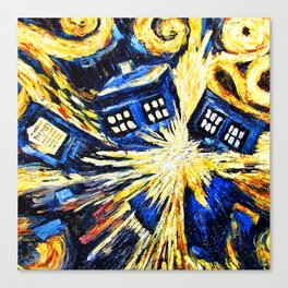 Tardis By Van Gogh - Doctor Who Canvas Print