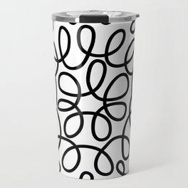 Hand drawn flower doodle circles Travel Mug