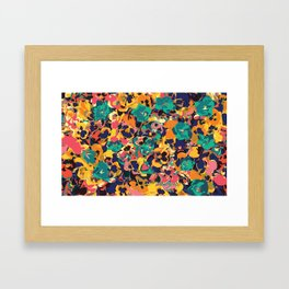 Flower Party Framed Art Print