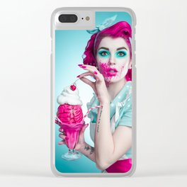 Zombie Housewife Clear iPhone Case