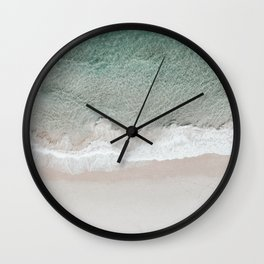 ocean from above Wall Clock