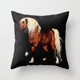 HORSE - Black Forest Throw Pillow