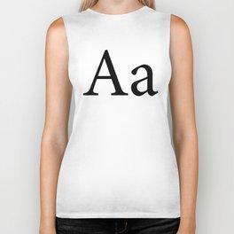 Alphabet Typography Letter A Biker Tank