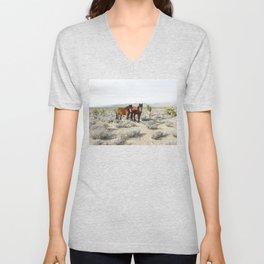 Desert Horse Pair Unisex V-Neck
