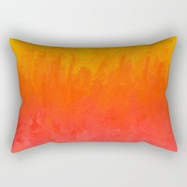 Coral, Guava Pink Abstract Gradient Rectangular Pillow