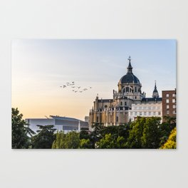 Almudena cathedral of Madrid Canvas Print