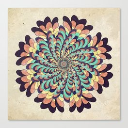 Maple Samaras Flower Mandala Canvas Print