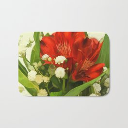 Modified - Still life with flowers Bath Mat