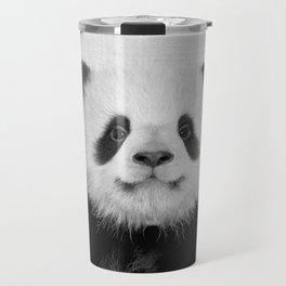Panda Bear - Black & White Travel Mug