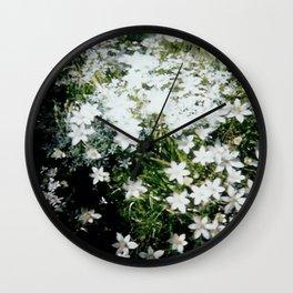 Forest Crocus Wall Clock