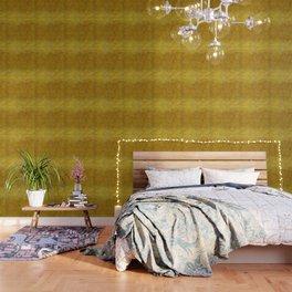"""""""Gold & Ocher Burlap Texture"""" Wallpaper"""