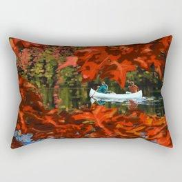 Autumn canoeing Rectangular Pillow