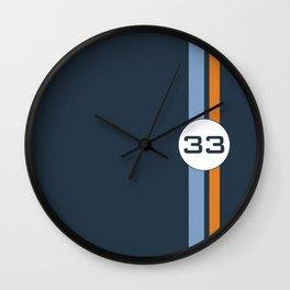 racing stripe .. #33 Wall Clock