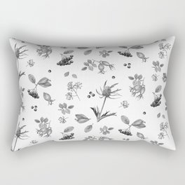rosehip, chokeberries and teasel Rectangular Pillow