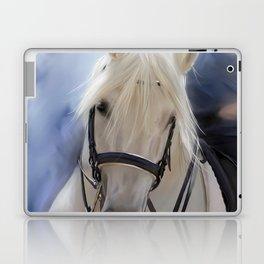 Painted White Horse head Laptop & iPad Skin