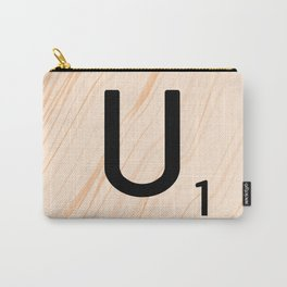 Scrabble Letter U - Large Scrabble Tiles Carry-All Pouch