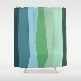 Stripes: Forest Shower Curtain