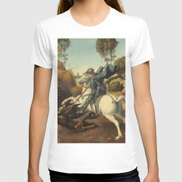 Saint George and the Dragon Oil Painting By Raphael T-shirt