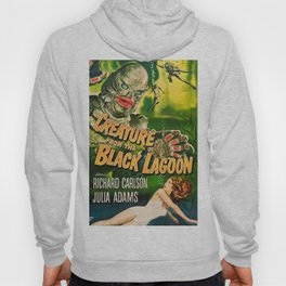 Creature from the Black Lagoon, vintage horror movie poster Hoody