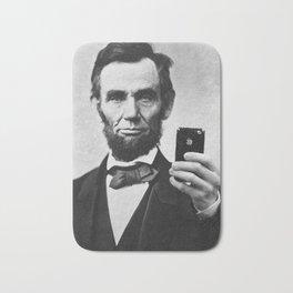 Abraham Lincoln iPhone Selfie Bath Mat