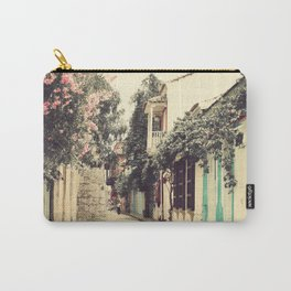 Just like a dream street, Cartagena (Retro and Vintage Urban, architecture photography) Carry-All Pouch
