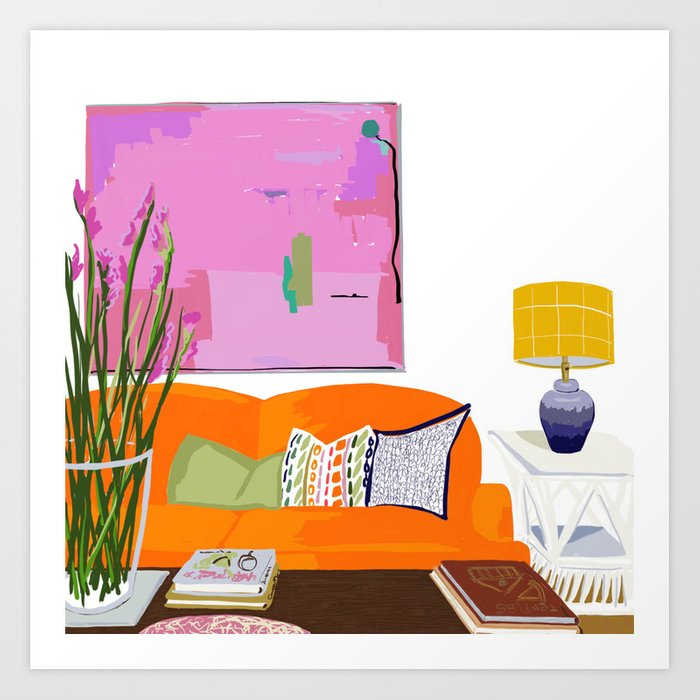 Living Room Art Print by sonjasadie | Society6