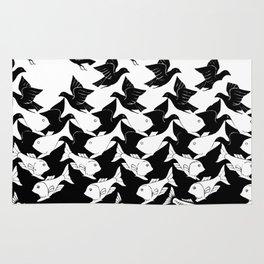 fish and birds tessellation art deco Rug