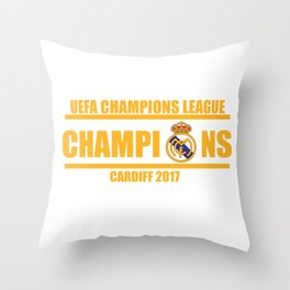 Real Madrid Champions League 2017 Cardiff Wales Throw Pillow
